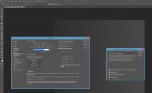 Captura de pantalla en Photoshop activando 30 bits RGB (el pantallazo solo captura el escritorio en 8bits y por eso aparece banding)